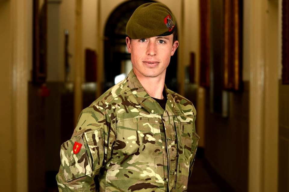 Private Liam Downs of the Royal Gibraltar Regiment