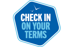 Check in on your terms logo