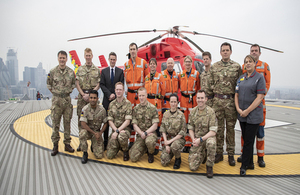 During a visit to The Royal London Hospital and London's Air Ambulance at Barts Health NHS Trust today, the Defence Secretary said the TXA Autoinjector would be backed by the department's new Transformation Fund.