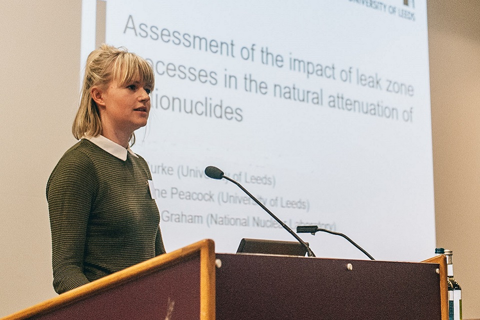 An NDA PhD student presents at the annual bursary seminar