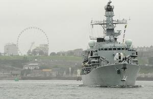 HMS Arygll visits Ghana