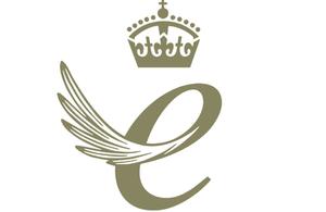 The logo of the Queen's Award for Enterprise