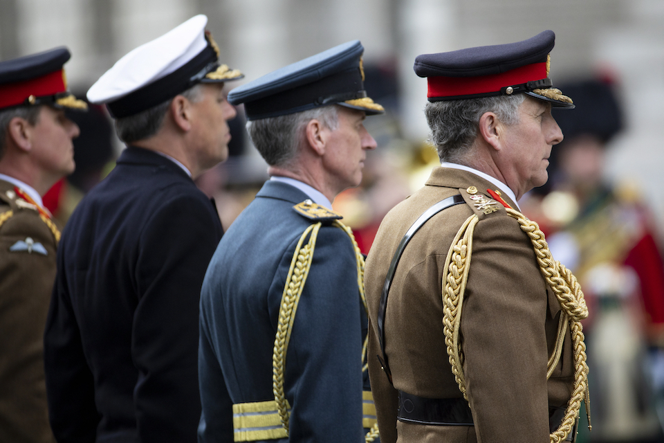 Chief of the Defence Staff General Sir Nick Carter during the Cenotaph service