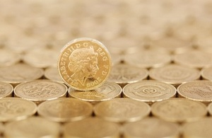 Picture of pound coins