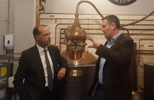 George Hollingbery at Pickering's Gin