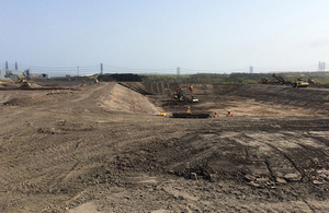 Lagoons being built at Lynemouth mine water treatment scheme