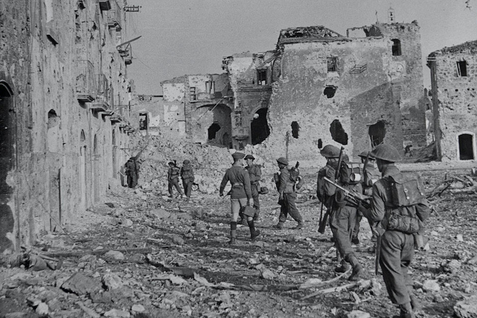 The 2nd Bn Lancashire Fusiliers in Italy during 1944, Crown copyright, All rights reserved