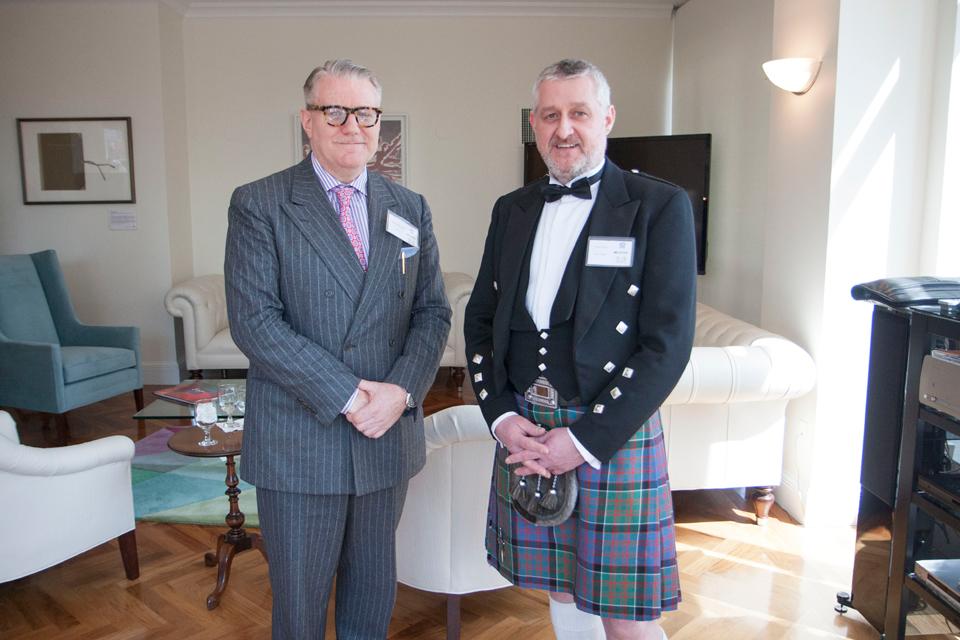 Justin MacInerney and a kilted Arthur Rennie
