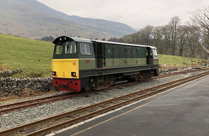 'Vale of Ffestiniog' locomotive involved in the incident at Beddgelert station