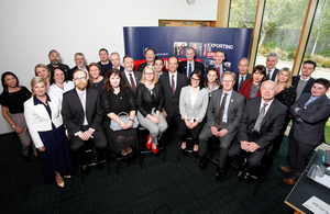 Minister Hollingbery and export champions