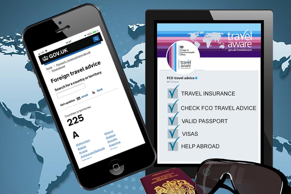 Foreign travel checklist