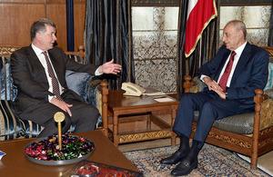 DG Political Richard Moore with Lebanon's Speaker Nabih Berri