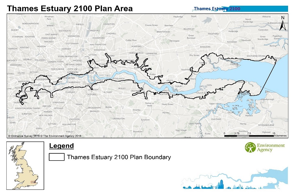 Thames Estuary 2100 plan area