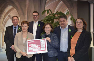 image of: Student Loans Company Executive Leadership Team with Time to Change Pledge