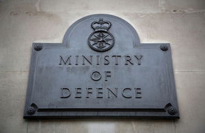 Ministry of Defence building plaque