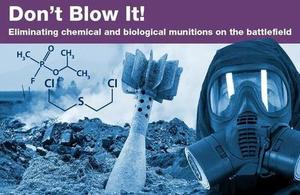 Blue image of chemical weapon disposal