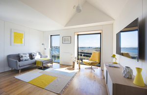Living Room in Modular Construction Home