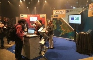 The UK Space Agency stand at the Living Planet Symposium