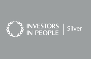 image of: investors in people logo silver background