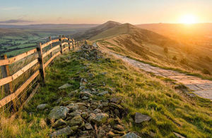 Sunset path in the Peak District