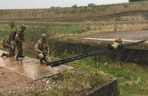 Troops trialling the Easibridge capability
