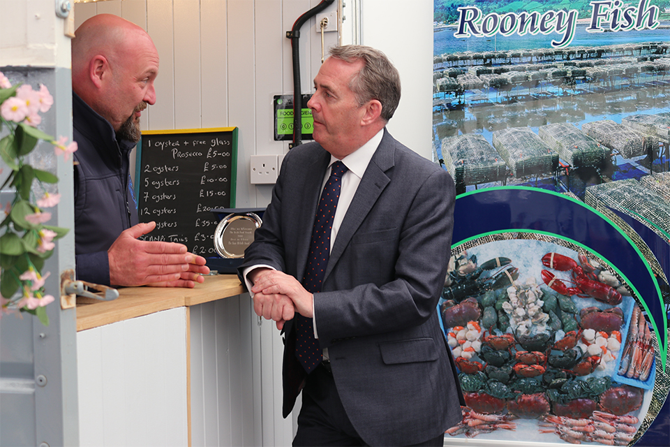 Dr Liam Fox MP meets with businesses in Northern Ireland