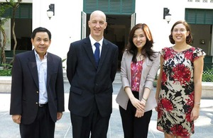 Ms.Tipwadee Vimutisunthorn (the second from right) from Thailand joins Future International Leaders Programme