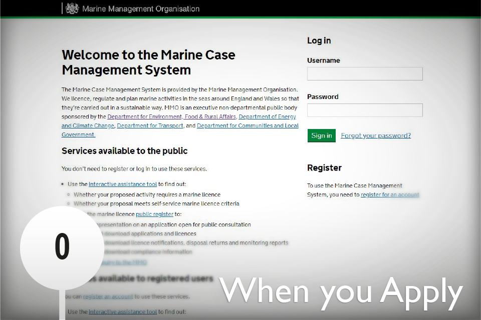 Image of welcome page for Marine Case Management System