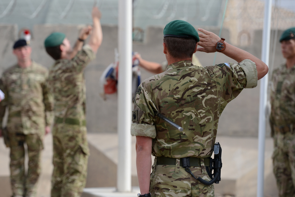 Royal Marines of 40 Commando hand over control of Main Operating Base Price