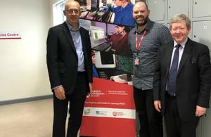 Julian Braybrook with Dr Matt Humphries and Michael Walker