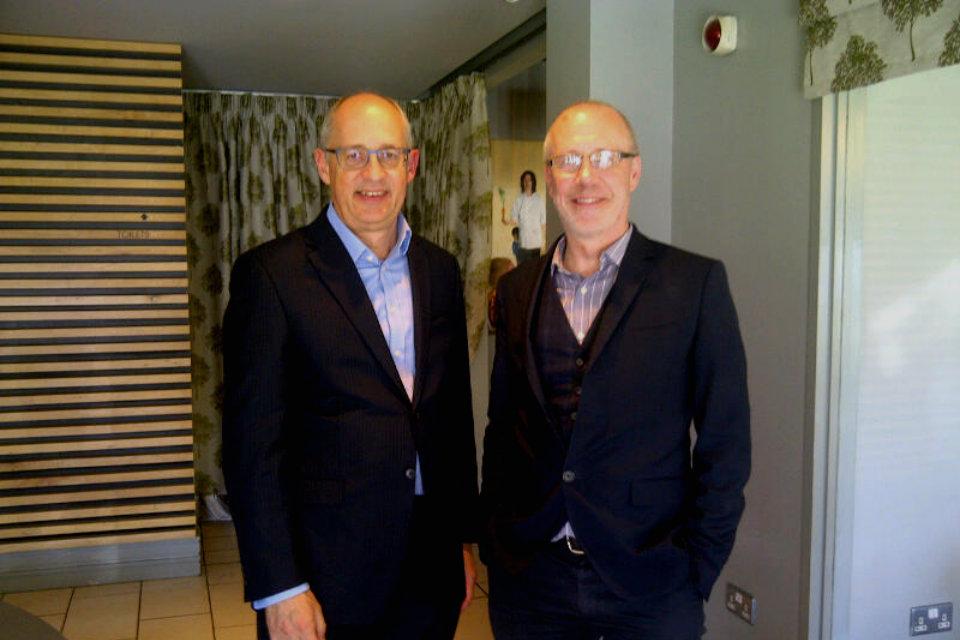 Julian Braybrook with Professor Ian Young