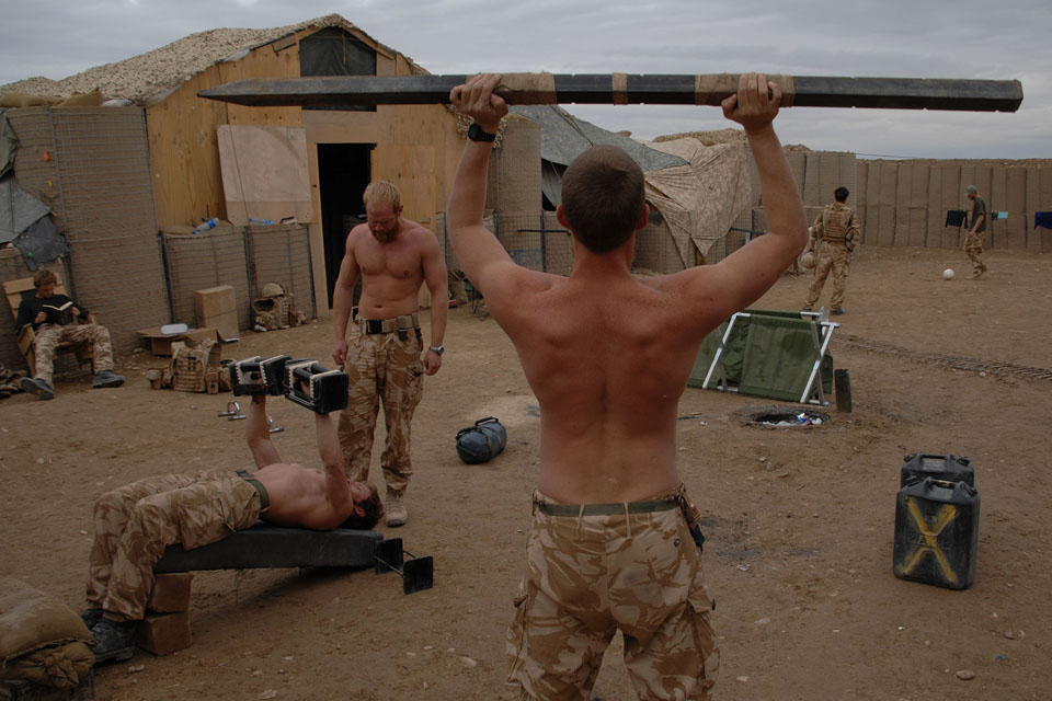 Royal Marines of 40 Commando enjoying some free time