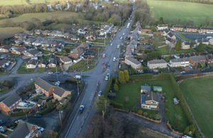 Arial view of M54 link road