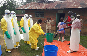 A Red Cross Ebola burial team in action in eastern DR Congo. Picture: IFRC