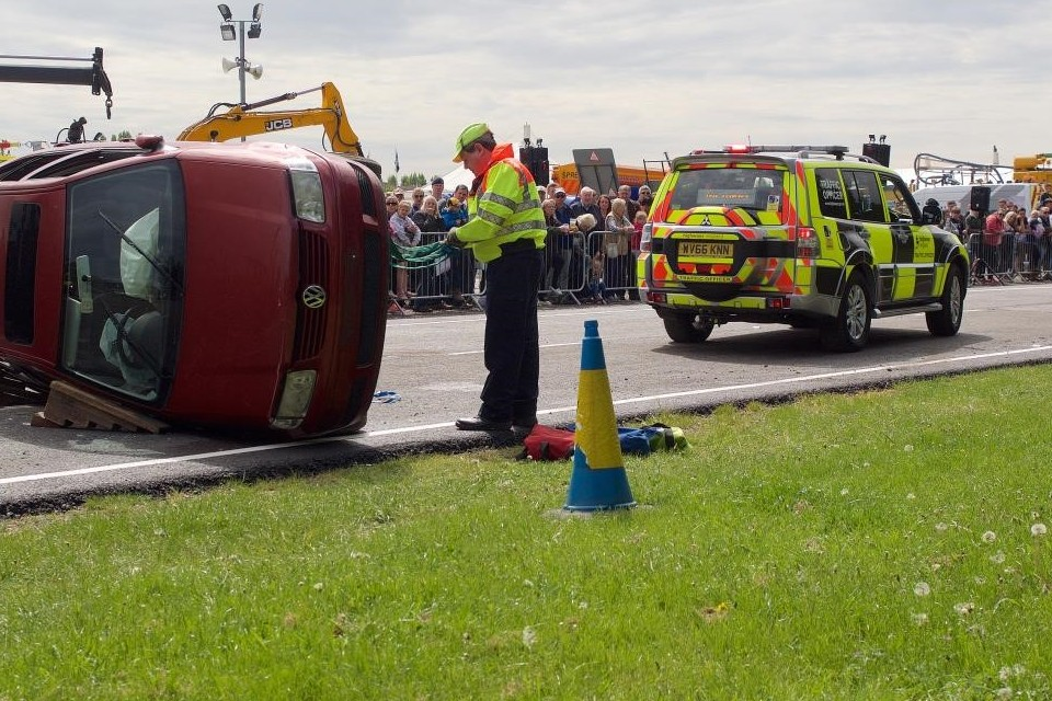 A demonstration by Highways England at last year's Nottinghamshire County Show