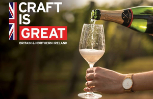 Craft is GREAT image, sparkling wine pouring