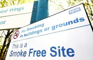 Smokefree NHS sign