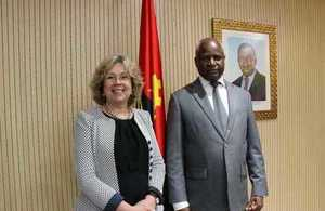 Baroness Northover and Angolan Minister for Interior, Ângelo Tavares