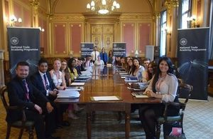 Students from last year's Summer School in the Locarno Suite, Foreign and Commonwealth Office