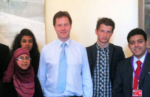 Young interns with the Deputy Prime Minister