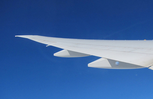 Picture of aircraft wing.