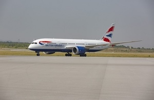 The first British Airways flight has landed in Islamabad as the airline began its first service between the UK and Pakistan in 10 years.