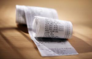 Supermarket shopping receipt
