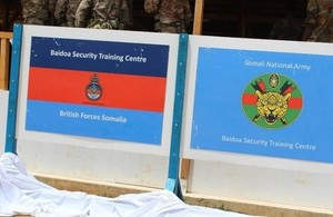 UK opens new training centre for the Somali National Army in Baidoa