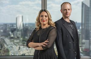 CuteCircuit's co-founders, Francesca Rosella and Ryan Genz.