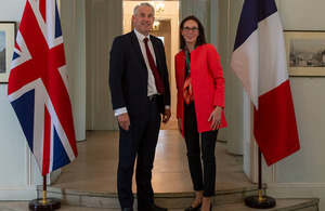 Secretary of State Steve Barclay meeting with French EU Affairs Minister Amélie de Montchalin