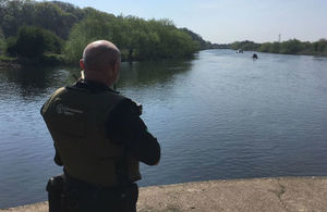 Our enforcement officers patrol rivers and lakes across the country