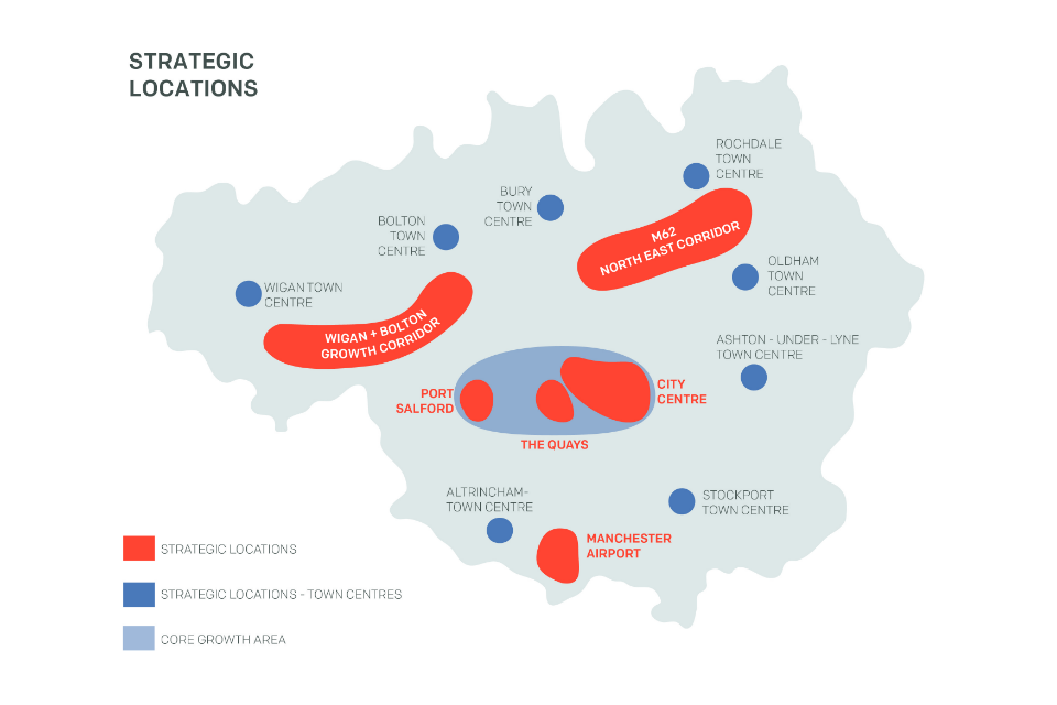 Map of strategic locations in Manchester (Figure 6)