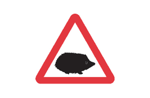 The new road sign to improve road safety and protect animals featuring a hedgehog