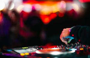 A DJ at a nightclub.